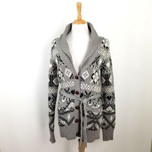 PINK cardigan sweater,  sz L